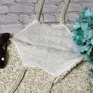 Bags - ⭐️ Cream and silver sparkle tote